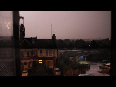 Apocalyptic strange sounds thunder lightning north london uk 2014