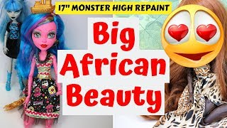 Video AFRICAN BEAUTY MONSTER HIGH DOLL REPAINT / HOW TO CUSTOMIZE DOLLS / DRAWING SPEEDPAINT TUTORIAL #art MP3, 3GP, MP4, WEBM, AVI, FLV Desember 2018