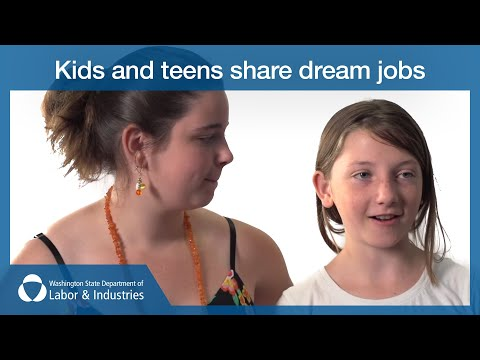 Kids and teens share dream jobs - Video 1