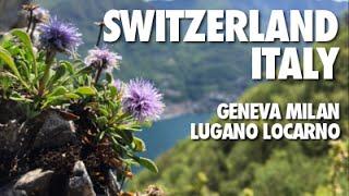 A short trip with many stops: Geneva, Milan, Lugano & Locarno. Beautiful landscapes, delicious food and many train rides along...