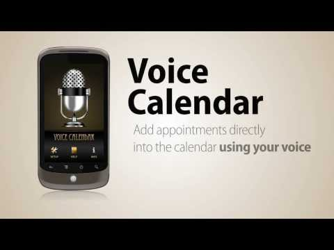 Video of Voice Calendar