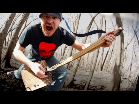Metal Head Transforms Shovel into OneString