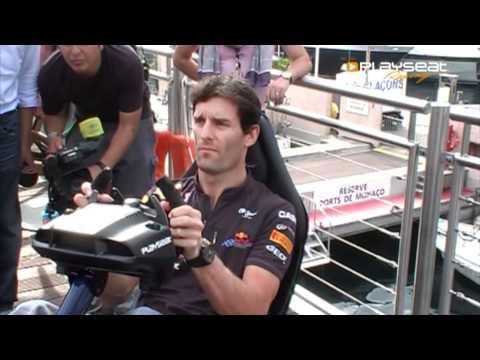 Mark Webber and Playseat Redbull Racing F1