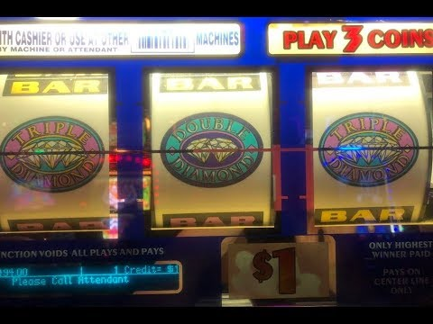 JACKPOT LIVE★Triple Double Diamond Slot Hand pay on Free Play ! San Manuel Casino, Akafuji slot