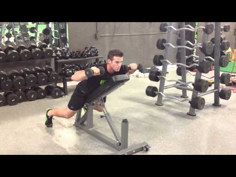 Lying Incline Shoulder Press