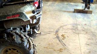 9. Arctic cat Diesel 700 turned up and blowing smoke.MOV