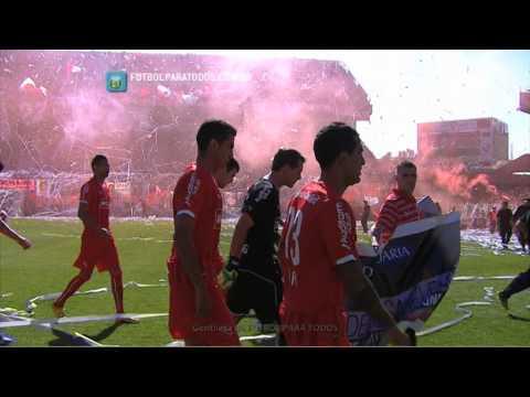 Recibimiento de Independiente. Independiente - Racing. Fecha 5. Torneo Primera División 2014.FPT - La Barra del Rojo - Independiente