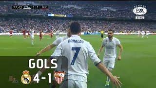 Gols - Real Madrid 4 x 1 Sevilla - 37ª Rodada La Liga 2016-2017 - 14/05/2017Narração: Gustavo Villani, Comentários: Rodrigo Bueno e Carlos SimonEstádio: Santiago Bernabéu