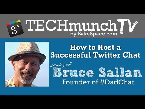 How to Host a Successful Twitter Chat with Bruce Sallan, Founder of #dadchat on #TechmunchTV