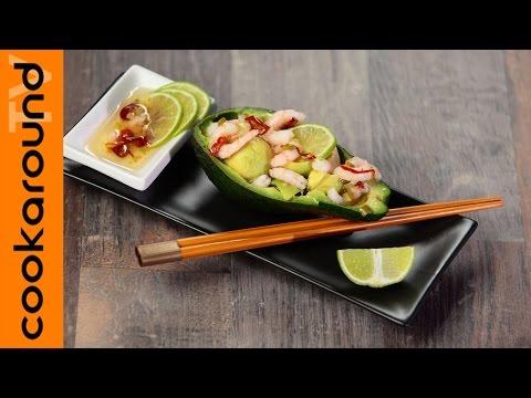 avocado con gamberetti in salsa thai - la videoricetta