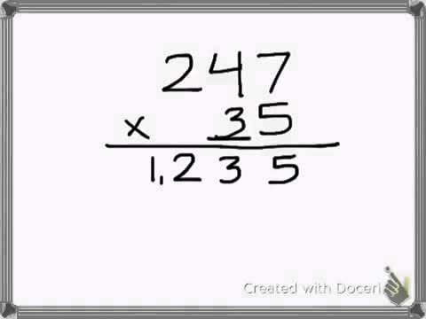 Multiplication standard algorithm method 3 digit by 2 digit