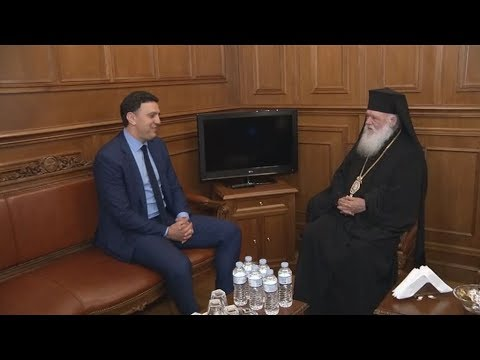 Επίσκεψη του Βασίλη  Κικίλια, στον Αρχιεπίσκοπο