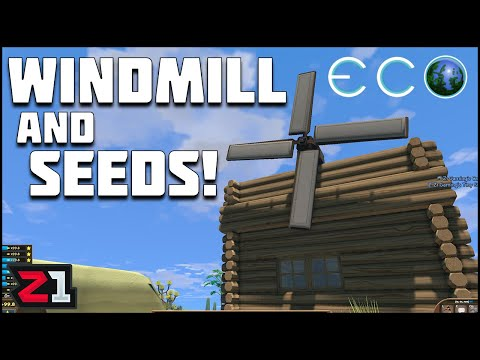The Hunt for SEEDS and Building a Windmill ! Eco Ep. 6 | Z1 Gaming
