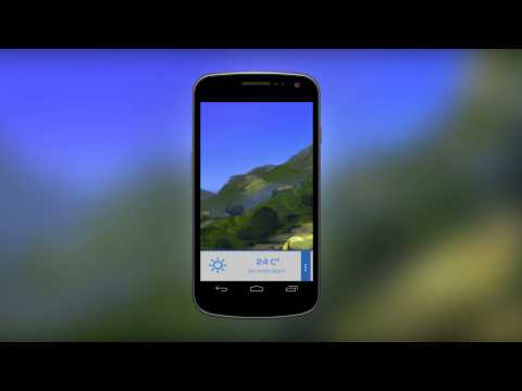 Art weather app mockup – video prototype