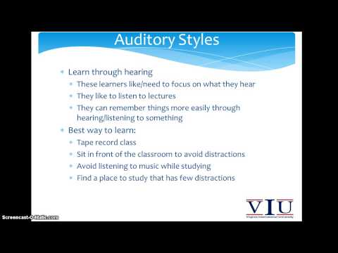 SED Minute Lecture Series -Learning Styles