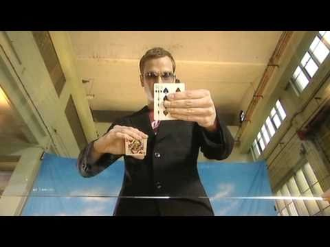Amazing card trick revealed: Find the lady. Filmed under a glass table