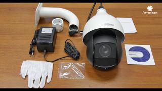 Видео. Купольная скоростная IP видеокамера SD59230S-HN. Обзор и распаковка.