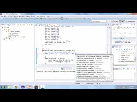 Learn How to Create a TextEditor with Java - Creating classes