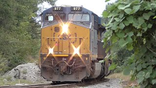 Download Video [1M] CSX Train Goes into Emergency with Two Scary Bangs, Hull - Auburn GA, 09/24/2015 ©mbmars01 MP3 3GP MP4