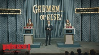 It's not enough for the Nazis to simply subjugate the planet. That's why they are even imposing their will on pop culture, taking what would have been iconic American TV shows and producing them with a uniquely German attitude. Watch an episode of German… or Else! right now to get a feel for life under Nazi tyranny in Wolfenstein II: The New Colossus.Liesel - https://www.youtube.com/watch?v=-Rwzqq_sQUM&t=2sCollector's Edition - https://www.youtube.com/watch?v=BM5shE229v0Gunning For Freedom - https://www.youtube.com/watch?v=zO0MxHaw-IAAmerica Under Siege - https://www.youtube.com/watch?v=PUFryhE5rwAWolfenstein II: The New Colossus will release on October 27, 2017 for Xbox One, PlayStation 4, and PC. For more information, follow these channels: Official Site –https://beth.games/wolfensteinFacebook –https://facebook.com/wolfensteinTwitter –https://twitter.com/wolfensteinInstagram –https://instagram.com/wolfensteinESRB RATING PENDING: May contain content inappropriate for children. Visit www.esrb.org for rating information.