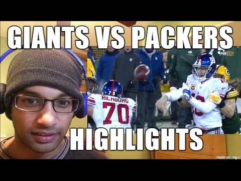 New York Giants VS Green Bay Packers 1.8.2017 HIGHLIGHTS- NFL Playoffs, Wild Card Weekend (REACTION) (видео)