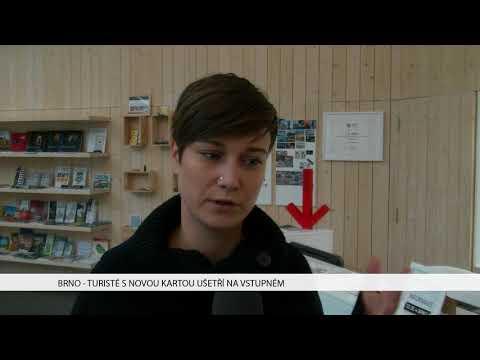 TV Brno 1: 1.12.2017 Turisté s novou kartou ušetří na vstupném
