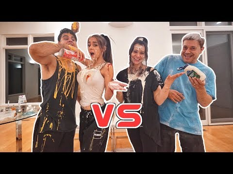 COUPLE Vs COUPLE EAT IT Or WEAR IT CHALLENGE! (so Funny)