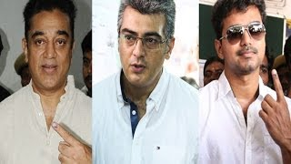 Our Cinema Stars doing their Citizen Rights! | Kamal Haasan | Ajith - BW