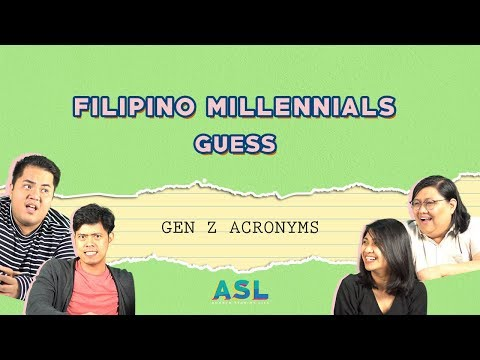 Filipino Millennials guess modern acronyms (Millennials React)