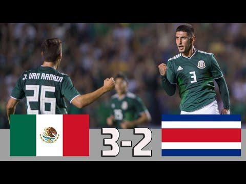 Mexico vs Costa Rica 3-2 | Goles Y Resumen Amistoso 2018