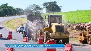 Obra para recuperar cratera em rodovia deve durar três meses