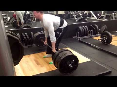 600lb Deadlift x 3 (almost 4) reps