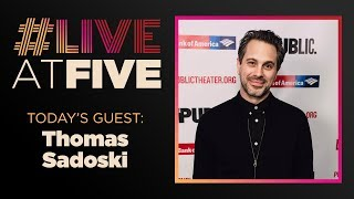 Broadway.com #LiveatFive with Thomas Sadoski of WHITE NOISE