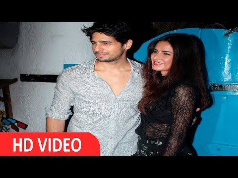 Katrina Kaif & Sidharth Malhotra At Wrap Up Party Of Film Bar Bar Dekho