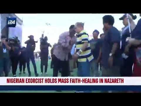 TB Joshua perform miracles in Nazareth.