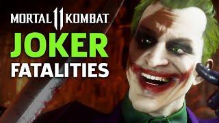 Mortal Kombat 11 - Joker Fatalities, Brutalities, And Fatal Blow Gameplay by GameSpot