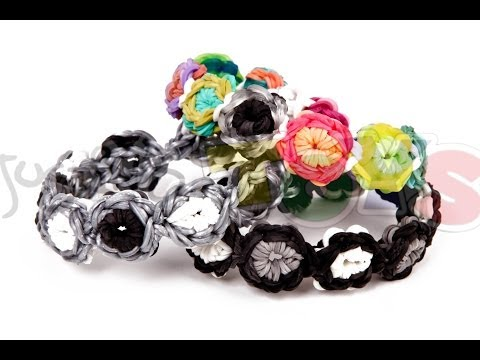 How to make a Flower Burst Rainbow Loom Bracelet – Advanced Starburst Tutorial