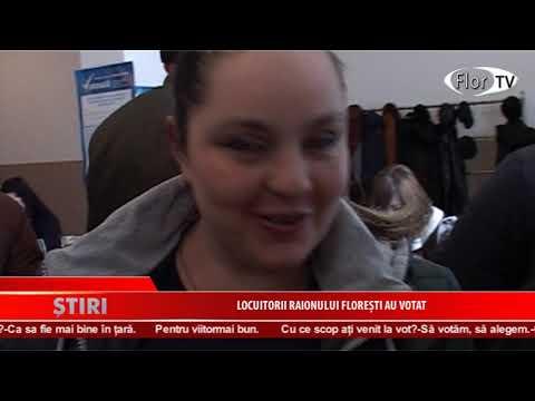 Locuitorii raionului Florești au votat