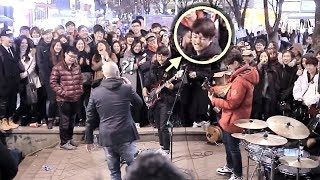 Video A Teen Boy Suddenly Joined Street Band and Playing Ultimate Bass Improvisation [ENG SUB] MP3, 3GP, MP4, WEBM, AVI, FLV September 2018