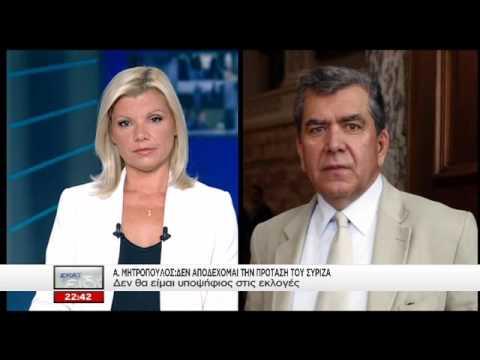 "Video - Οργισμένη αντίδραση Μητρόπουλου για το ""κόψιμό"" του από τα ψηφοδέλτια του ΣΥΡΙΖΑ"