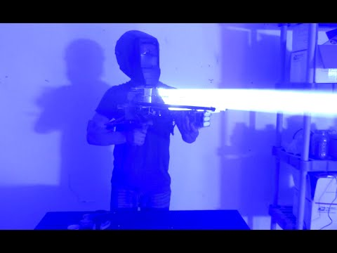 Mad Scientist Builds a 200Watt Laser Bazooka That Can Shoot Through a Computer