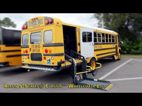 Ricon S-Series® Classic™ Wheelchair Lift (outside and inside view)