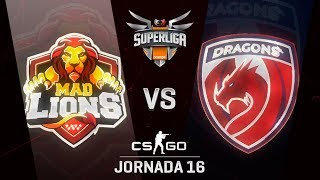 MAD LIONS E.C. VS DRAGONS E.C. - MAPA 2 - SUPERLIGA ORANGE - #SUPERLIGAORANGECSGO16