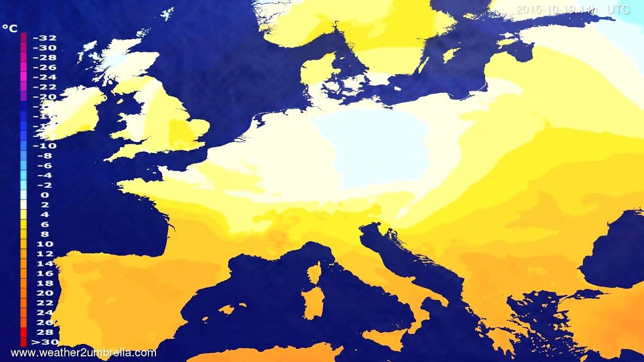 Temperature forecast Europe 2015-10-15