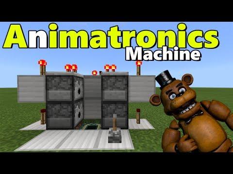 ANIMATRONICS MACHINE TUTORIAL   Minecraft PE (Pocket Edition) FNAF Pets Addon