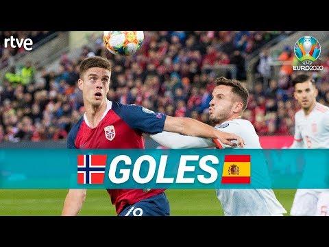 GOLES Noruega 1-1 España  Clasificatorio Eurocopa 2020