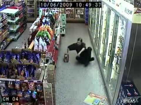 Funny Video – Drunk Man Dances Waltz in a Gas Station