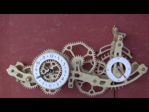 Brian Law - This clock started really as a challenge to see if I could design a couple of elliptical gears to mesh together, that worked out pretty well, so I started to...