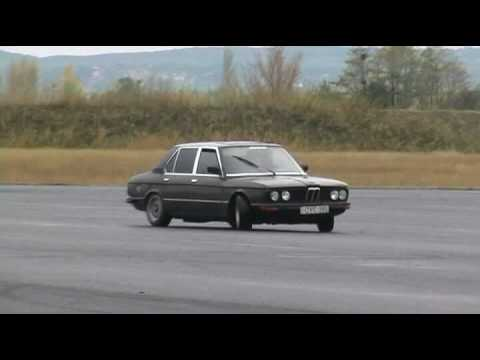 BMW E12 - My first steps in drift. Hungary, Tököl.