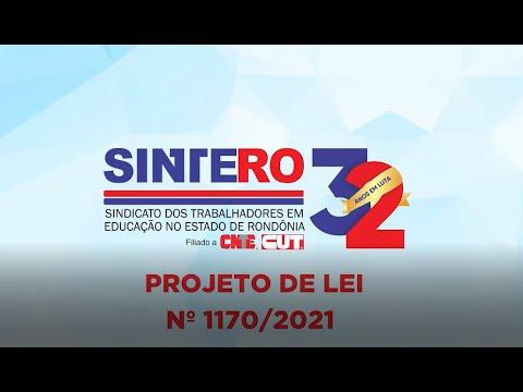 Sintero esclarece à população quanto ao PL nº1170/2021